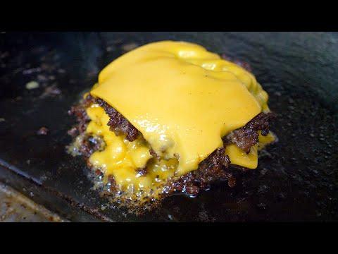 미국식 수제 치즈버거, 줄서서 먹는 곳 - 해방촌 / american style cheeseburger - korean street food