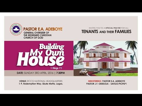 APRIL 2016 SPECIAL THANKSGIVING SERVICE FOR ALL TENANTS