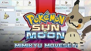 Mimikyu Moveset Guide! How to use Mimikyu! Pokemon Sun and Moon! by PokeaimMD