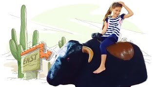 Укрощаем механического быка атракцион Родео в парке Горького Харьков