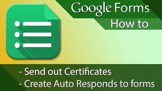 #12 [구글스프레드시트] Google Forms - Tutorial 02 - Auto Responses or Certificates (영문)