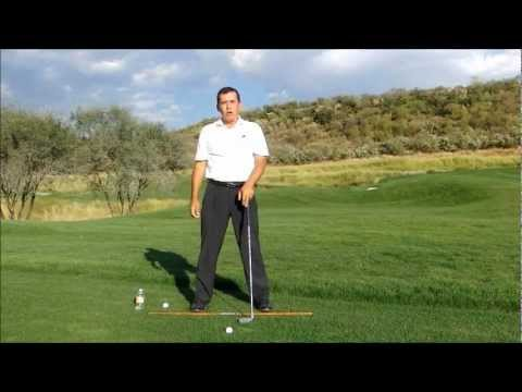 GOLF LESSONS – DOWNSWING – FEET START THE DOWNSWING ( FIX HANGING BACK, FORWARD LUNGE)