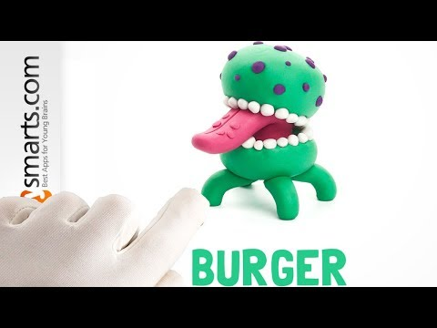 Play-Dog Burger Monster from Hey Clay smartphone/tablet game