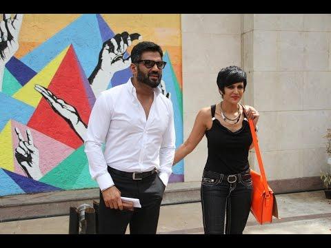Sunil Shetty & Mandira Bedi At The Launch Of Street Smart Street Safe Campaign