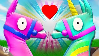 UNICORN AND LLAMA FALL IN LOVE?! *NEW YEE-HAW SKIN* - Fortnite Short Films