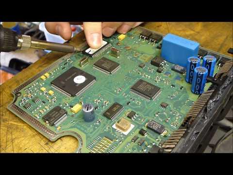 How to de-solder and repair broken Bosch EDC15C2 ECU from 2.0 HDI.