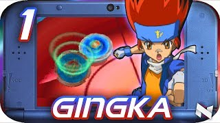 PLAYING AS GINGKA! || Beyblade METAL FUSION Gameplay! || Nintendo DS