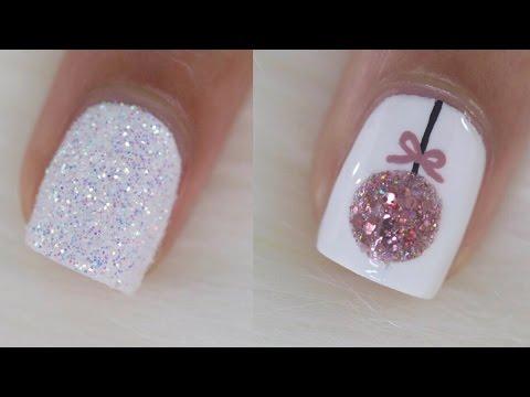semplici idee di nail art natalizie