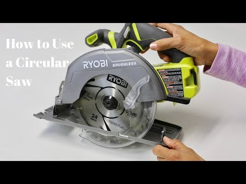 How to Use a Circular Saw to Cut Wood - Power Tools Tutorials - Thrift Diving