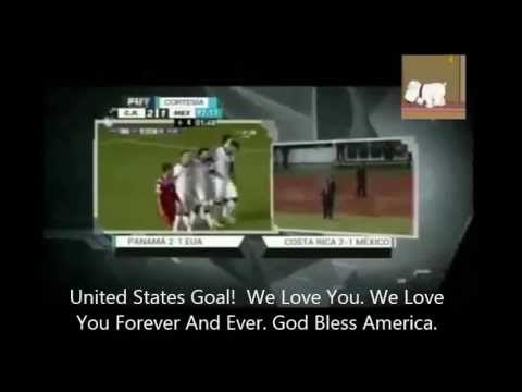 """Mexico Commentator Screams """"We Love You Forever And Ever. God Bless America"""" With Subtitles"""