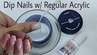 Video Dip Nails with Regular Acrylic MP3, 3GP, MP4, WEBM, AVI, FLV Agustus 2019