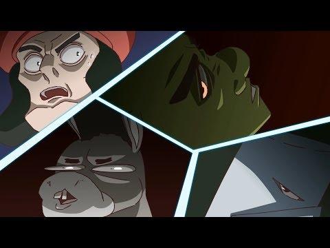 SHREK vs KNIGHTS - Top 10 Anime Fights (Shrek Retold)