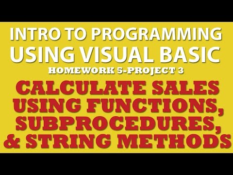 VB.net Calculate Sales (pp 5-3) Using Functions & Procedures, and String Methods