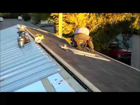 Metal roof install 58 seconds Time Lapse Menards Roofing