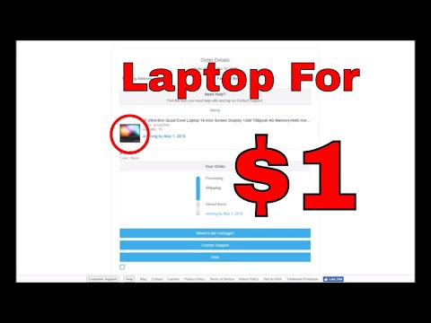 I Bought A Laptop For $1 On Wish.com (Unboxing!)