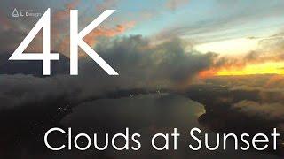 4K空撮 / 夕雲と富士山