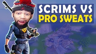 SCRIMS VS THE PRO SWEATS! HELP ME! I NEED MATS | HIGH KILL FUNNY GAME- (Fortnite Battle Royale)