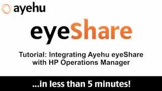 Integrating Ayehu EyeShare With HP Operations Manager