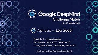 Match 1 - Google DeepMind Challenge Match: Lee Sedol vs AlphaGo