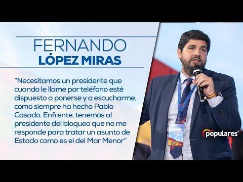 Fernando López Miras habla sobre la situación del Mar Menor en Cartagena