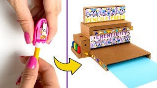 Back To School Cardboard Project: Desktop Organizer With Pencil Sharpener