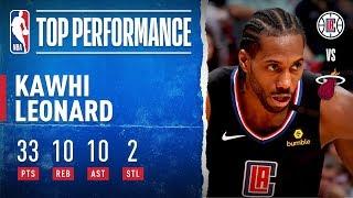Kawhi Drops FIRST Career TRIPLE-DOUBLE! by NBA