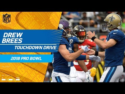 Video: Drew Brees Leads NFC All-Stars Downfield for a TD! | NFC vs. AFC | 2018 NFL Pro Bowl HLs