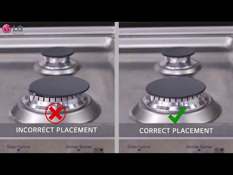 LG Range - Burner Head, Cap, Grate & Cook Top Cleaning