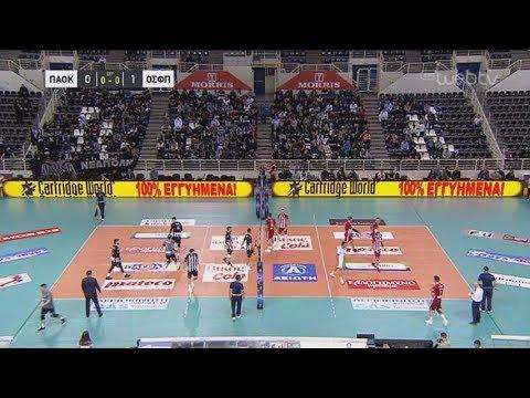 Volley League:  ΠΑΟΚ – ΟΛΥΜΠΙΑΚΟΣ 0-3 | 04/11/2019 | ΕΡΤ