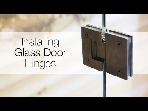 Glass Front sauna door installation