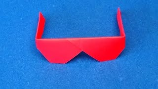 Video Origami Sunglasses.  How to make Traditional Origami Sunglasses MP3, 3GP, MP4, WEBM, AVI, FLV Juli 2017