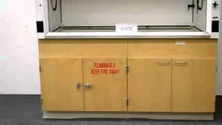 6′ Fisher Hamilton Laboratory Fume Hood with Epoxy Tops Base Cabinets