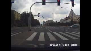 Cuda na skrzyżowaniu na ulicach Lublina.