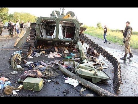АТО 29 августа. Украинская авиация уничтожила колонну российской техники.