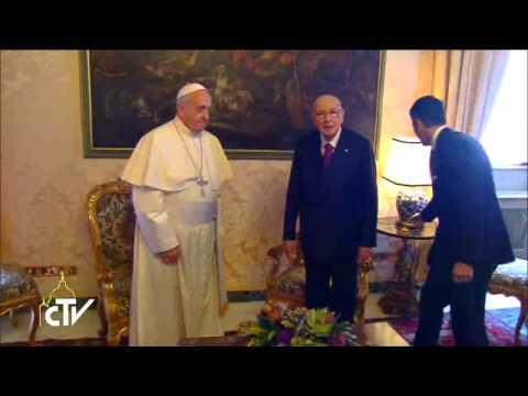 Francesco al Quirinale: la Chiesa è con l'Italia