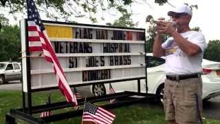 Batavia (NY) United States  city photo : Frank Panepento promoting Flag Day salute at VA Center in Batavia, NY