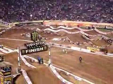 Travis Pastrana's Finish Line Backflip in San Diego SX