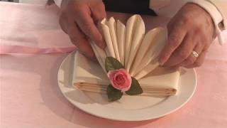 How To Fold Fancy Looking Napkins -