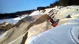 6. Arctic cat F7 crash upphill