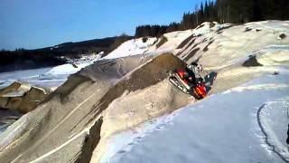 7. Arctic cat F7 crash upphill