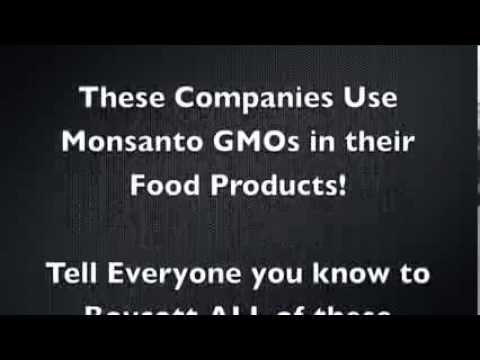 Monsanto GMO FOODS products list UK / WORLD WIDE Boycott them all!