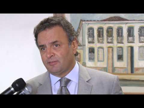 Aécio Neves alerta para interrupção de voos internacionais em Confins