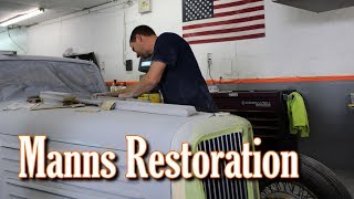 "This is our latest video from around the shop at Manns Restoration, in Festus, MO.  It features their high skilled group of craftsmen, doing what they do best.  They continue to crank out amazing, show-winning, automobiles, month after month.  We hope you find it interesting, thank you for watching!Manns Restoration:  http://mannsrestoration.com/Restoration/Default.aspxThe background track is ""Red Dust"", by Iron & Wine.  This video is not monetized, nor do we claim any rights to the music contained within."