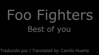 Foo fighters - Best of you - Lyrics [Subtitulada al Español]