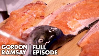 Amateur Cooks Try To Filet A Salmon   Culinary Genius Full Episode by Gordon Ramsay