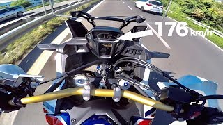 10. 2017 Honda Africa Twin 1000 DCT(AUTOMATIC) - FULL GAS POV, 0-100 & Review (ENG.SUBS)