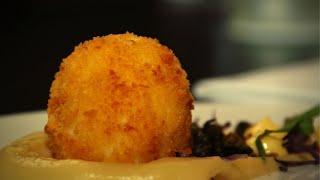Frittiertes oder gebackenes Senf - Ei