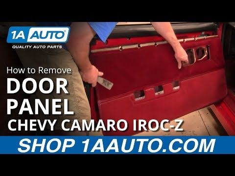 How To Install Remove Door Panel 82-92 Chevy Camaro IROC-Z and Pontiac Trans Am 1AAuto.com