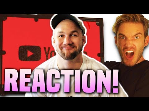 PEWDIEPIE Unboxing 100 MIL YouTube AWARD REACTION!