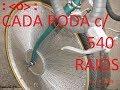 RODA DE BICICLETA COM 540 RAIOS by KOJI